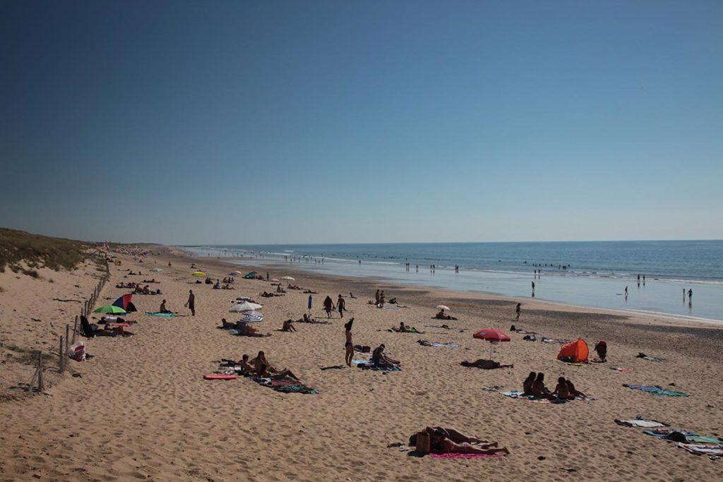 la plage des dunes brem sur mer
