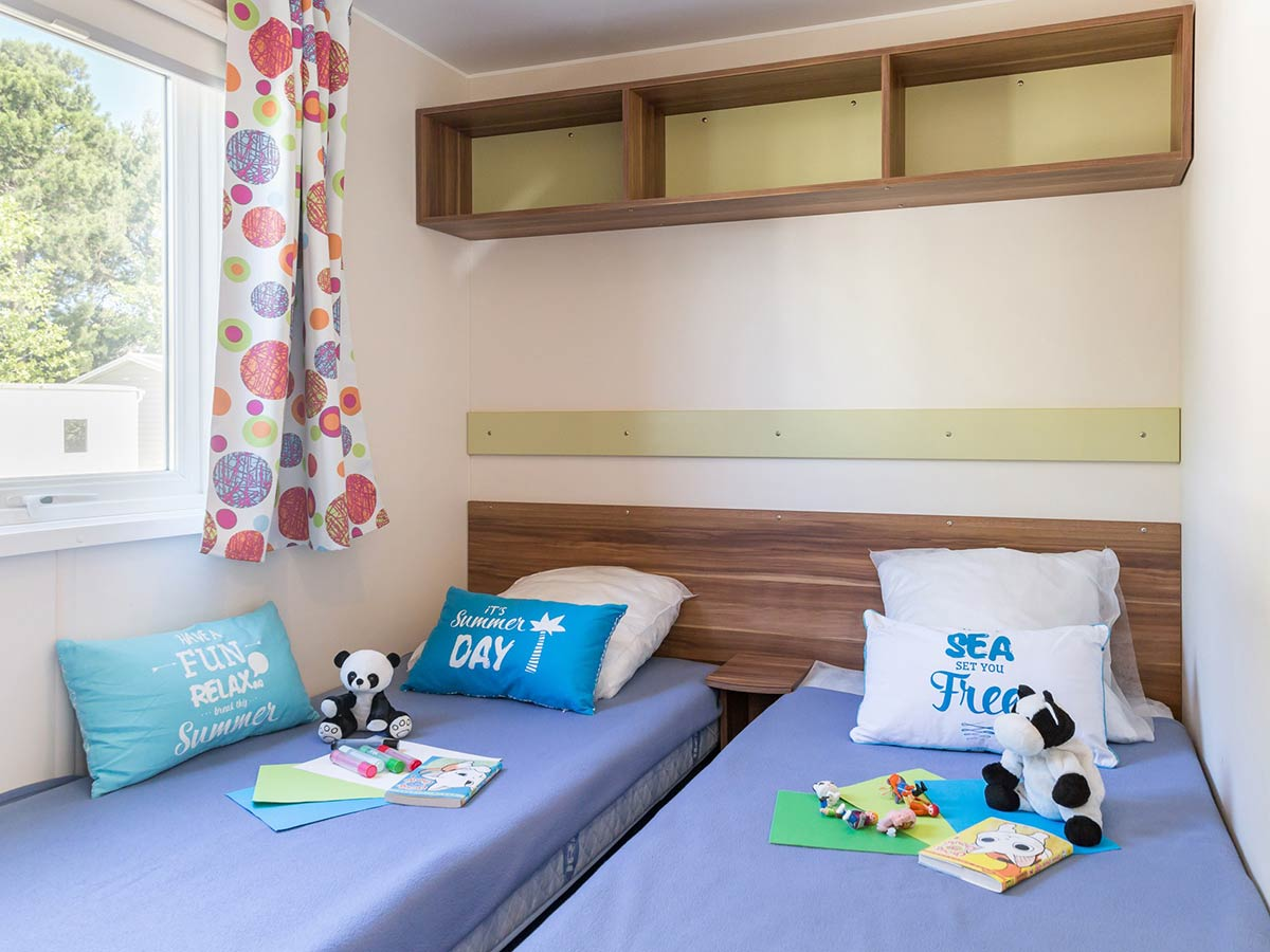 chambre enfants Location mobilhome Bahamas 3 chambres 6/8 personnes