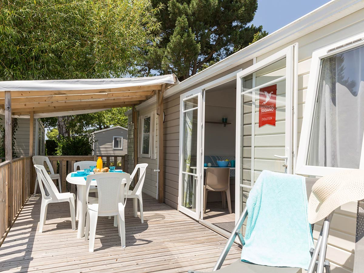terrasse Location mobilhome PMR VENDEE